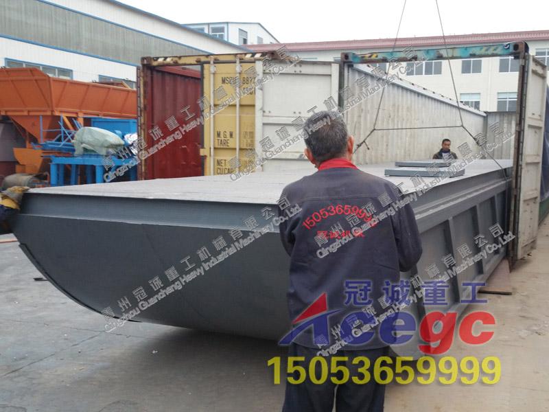 加纳客户订gou的沙金船发货现chang